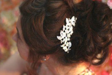 Гребень с стеклярусом для свадебной прически