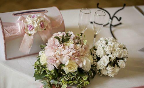 Цветочная композиция на свадьбу малая