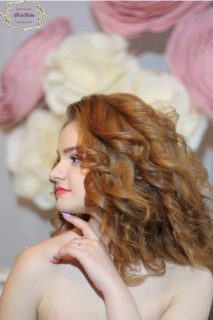 Свадебная прическа на волосы средней длины Москва