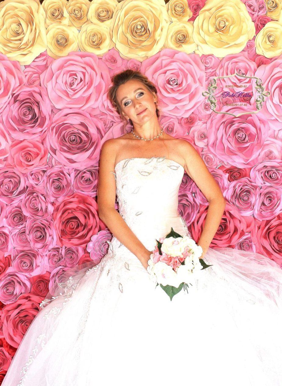 Розовая фотозона
