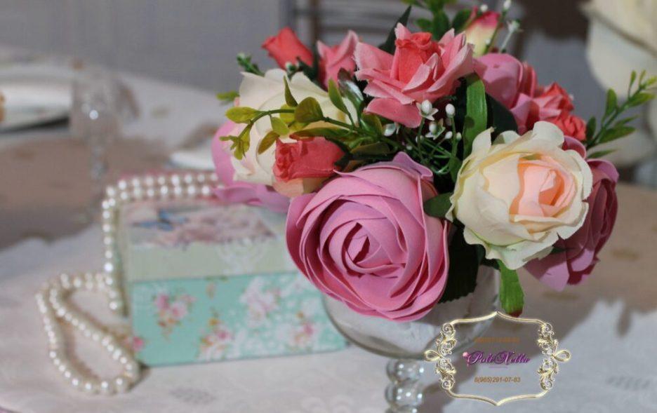 Декор цветами свадебного стола Долгопрудный