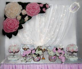 Украшение свадьбы ростовыми цветами