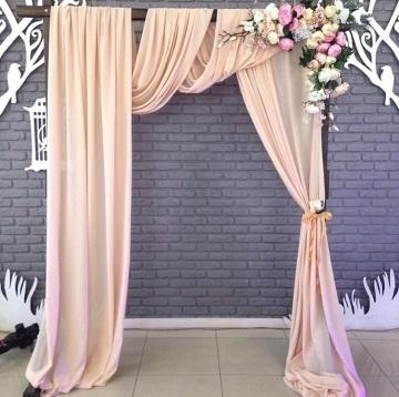 Арка кремовая на свадьбу