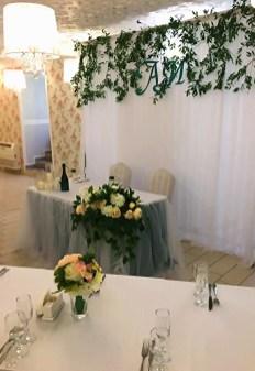 Оформление свадебного стола в стиле прованс.