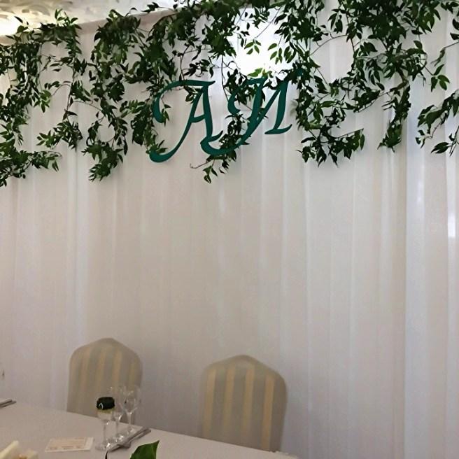 Задник на свадьбу в стиле прованс