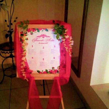 План рассадки для свадьбы в красном цвете