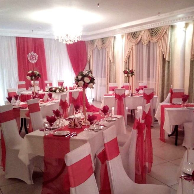 Оформление свадьбы в красном цвете Москва