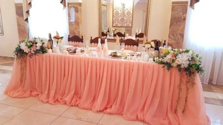 оформление свадебного зала в персиковом цвете недорого.