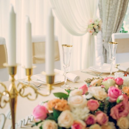 Свадебные аксессуары в золотом цвете