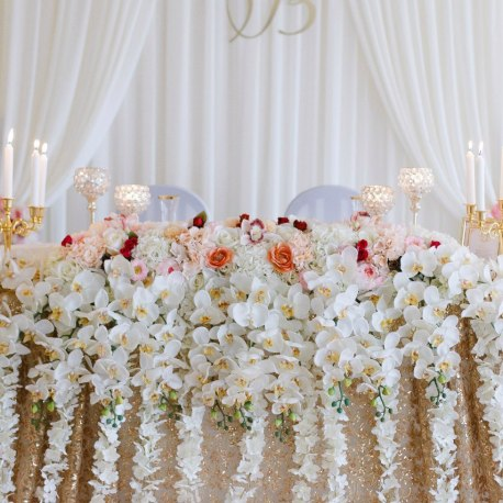 Цветы на свадьбу в золотом