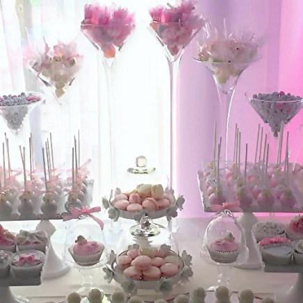 Кэнди бар на свадьбу в стиле шебби шик