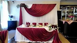 Украшение свадьбы в красном цвете Москва