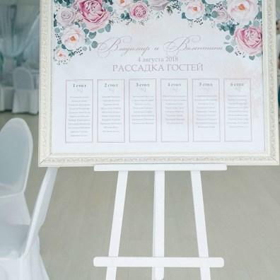 План рассадки для свадьбы кантри