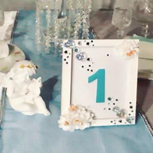 Гостевые столы на свадьбе Тиффани Москва
