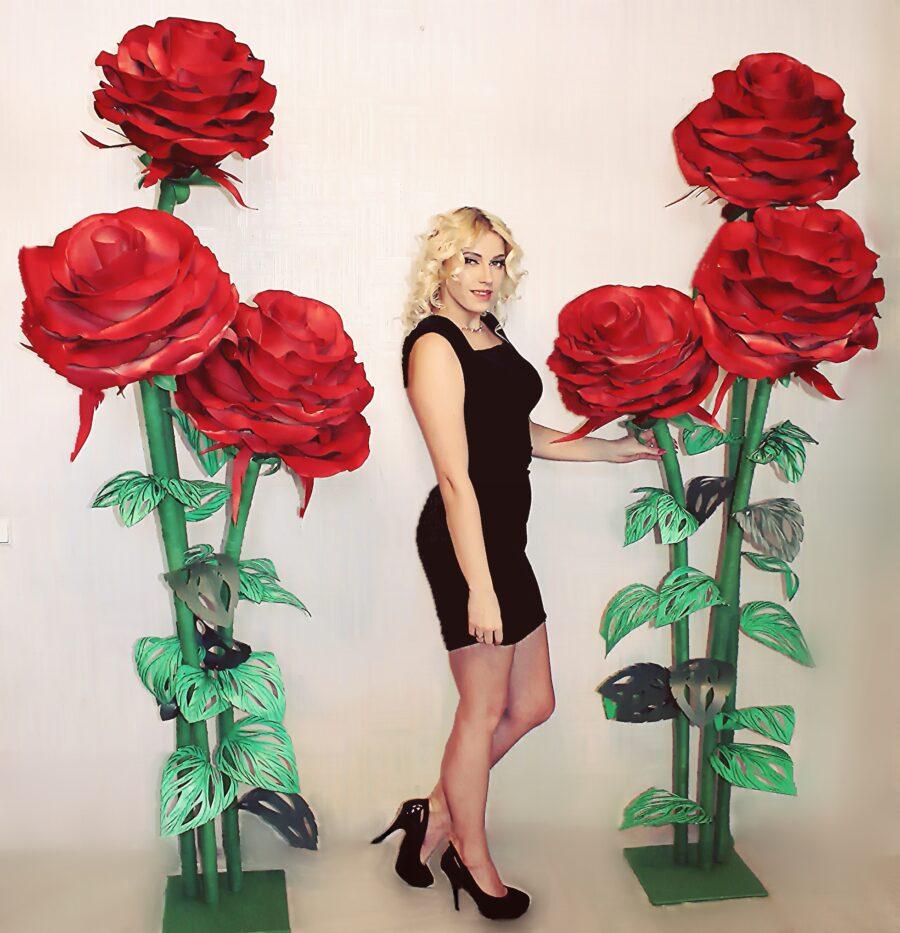 Ростовые красные розы
