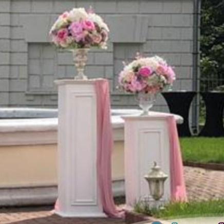Колонны свадебные бело-розовые