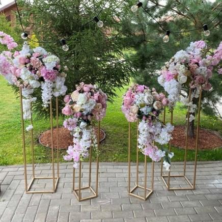 Стойки цветочные свадебные для выездной регистрации