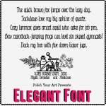 Elegant Font Preview