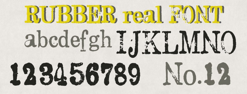 Preview of Rubber Real font