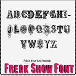 Freak Show Font Preview