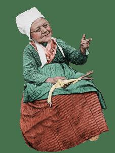 grandma with chicken