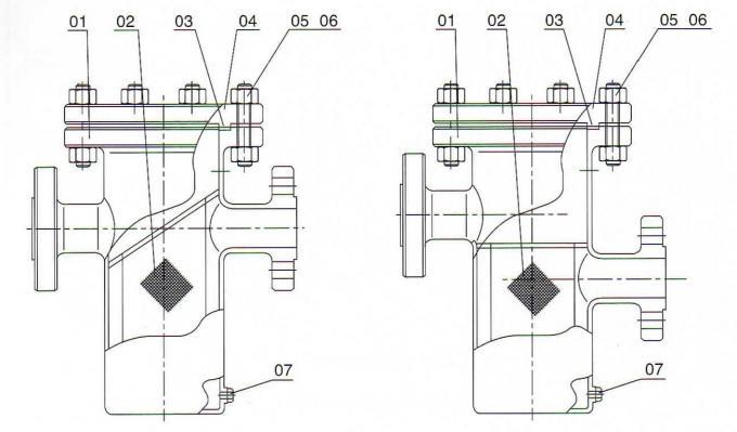 Przemysłowy kosz Filtr siatkowy Simplex WPB 36