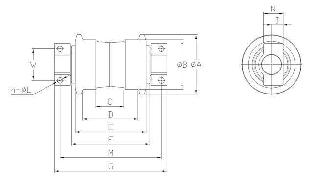 Części podwozia koparki precyzyjnej EC55 EC460 VOLVO Mini
