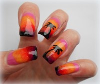 sunset nails | Polish Alcoholic