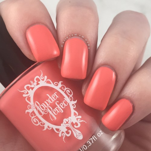Powder Perfect Florida Nail Swatch and Review - Polish and Paws