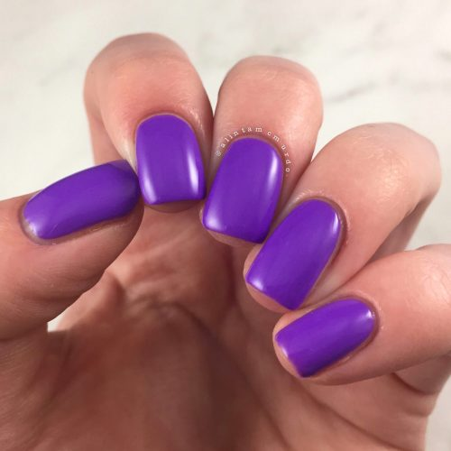 Powder Perfect Puerto Rico Nail Swatch and Review - Polish and Paws