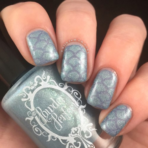 Easy mermaid nails using Powder Perfect Precious Moments and Cherish