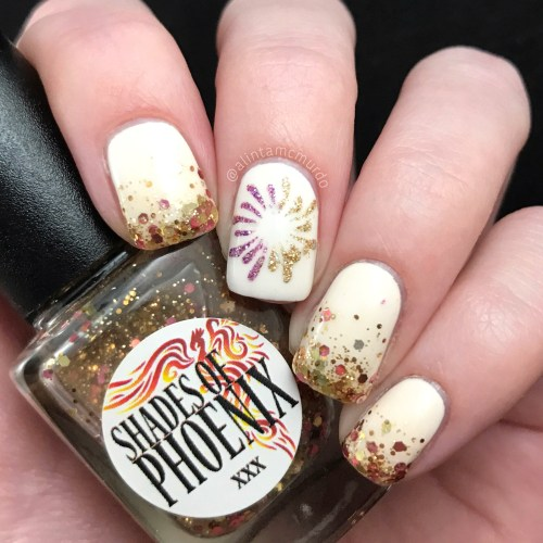 Glitter and fireworks - new year nails