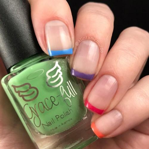 Grace-full Nail Polish Fruit Salad Collection rainbow nail art