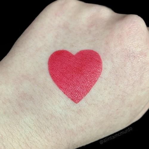 Eye Of Horus Cosmetics Vesta Red swatch - polish and paws cruelty free beauty blog
