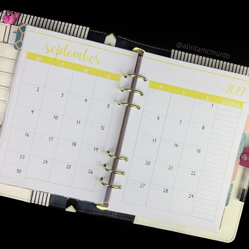 Chasing Planner Peace A5 Monthly Calendar Planner Inserts - polish and paws blog
