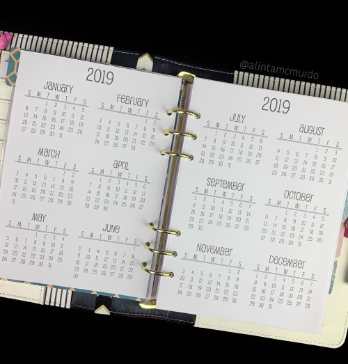 Nati Planning A5 Yearly Overview planner inserts - polish and paws blog