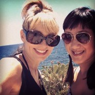 With my friend, Heather in Ibiza