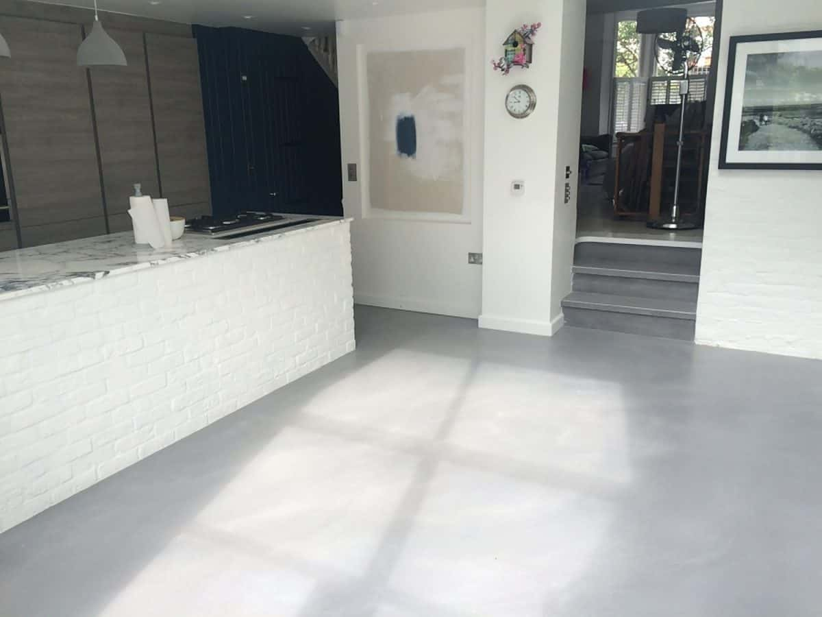 seamless kitchen flooring portable islands polished concrete floor co diner floors