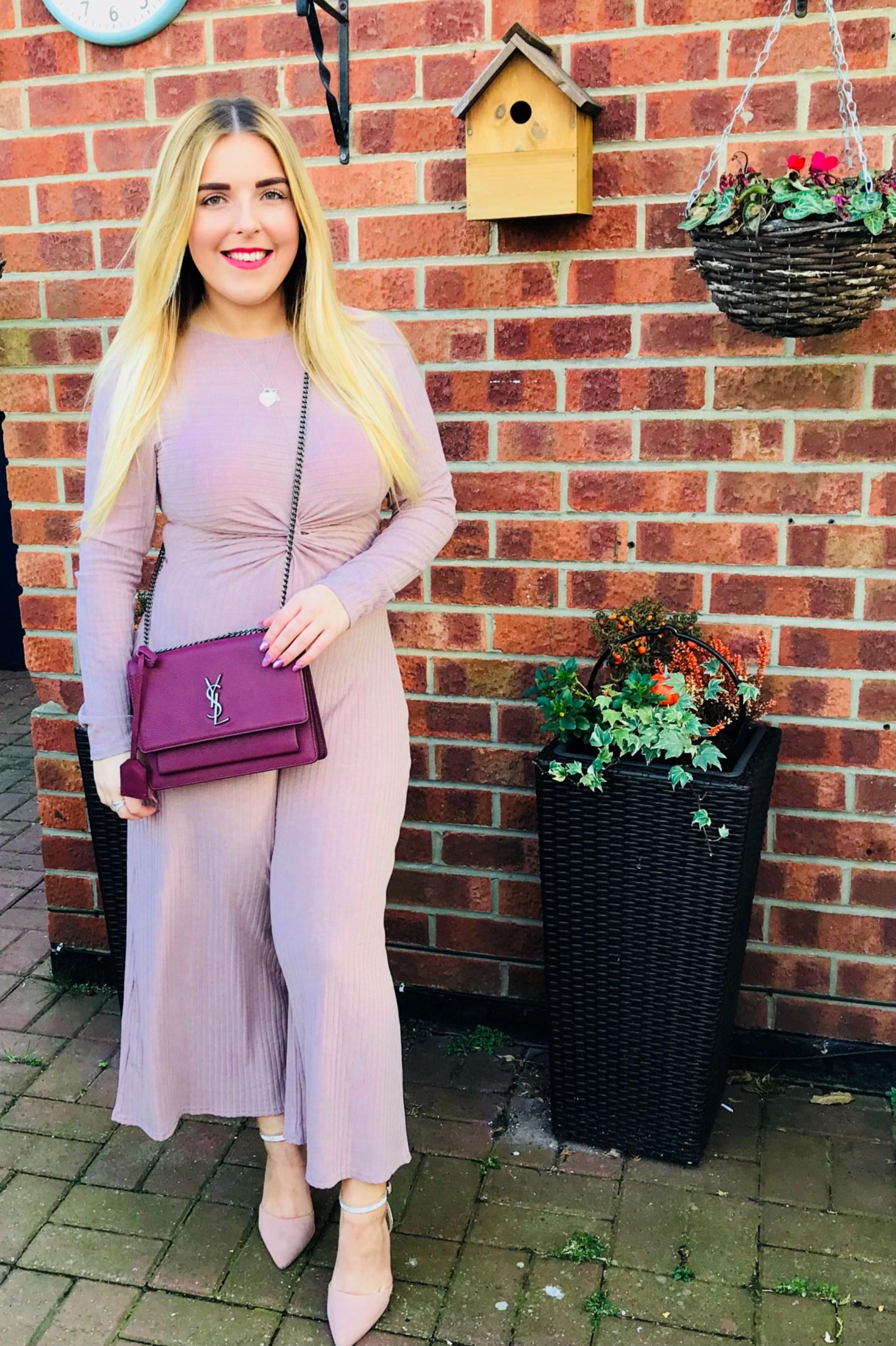 pink jumpsuit femme luxe