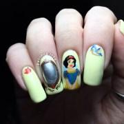 disney snow white nail art polished