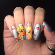 little pony applejack nail