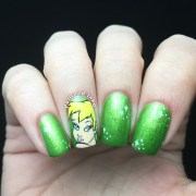 tinkerbell nail art polished