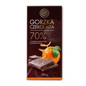 Czekolada gorzka z kandyzowana skórką pomarańczowa 70 procent kakao 100 g