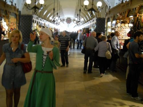 cloth hall Krakow shopping