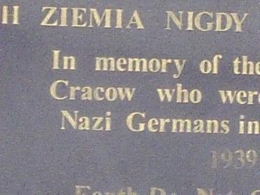 holocaust memorial Krakow