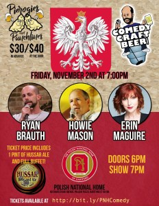 Pierogi And Punchlines - Comedy Craft Beer Night 11/2