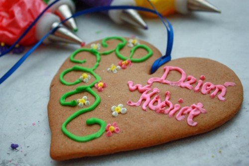 polish gingerbread decorated for women's day