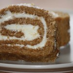 pumpkin log with cream cheese filling