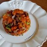Sweet Potatoes with Leek and Bacon