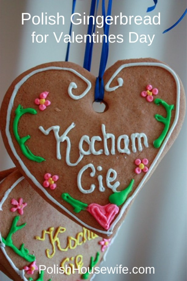 polish gingerbread decorated for valentine's day